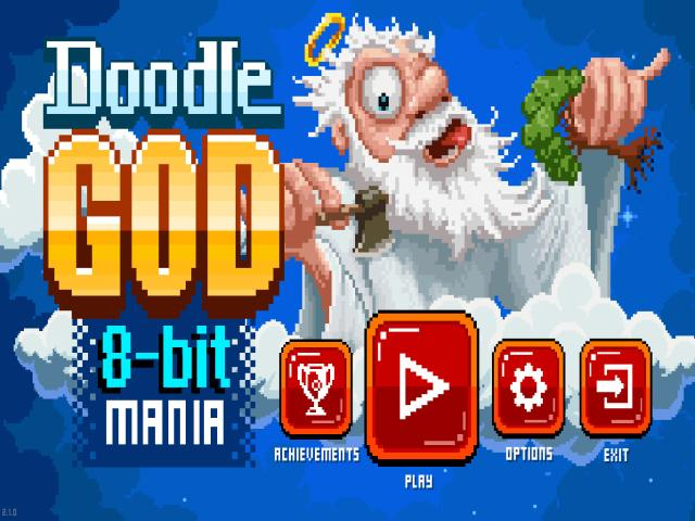 Doodle God: 8-bit Mania - game cover