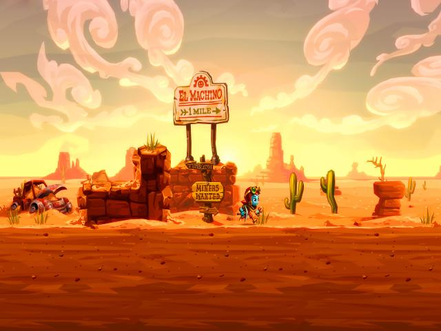 SteamWorld Dig 2 - title cover