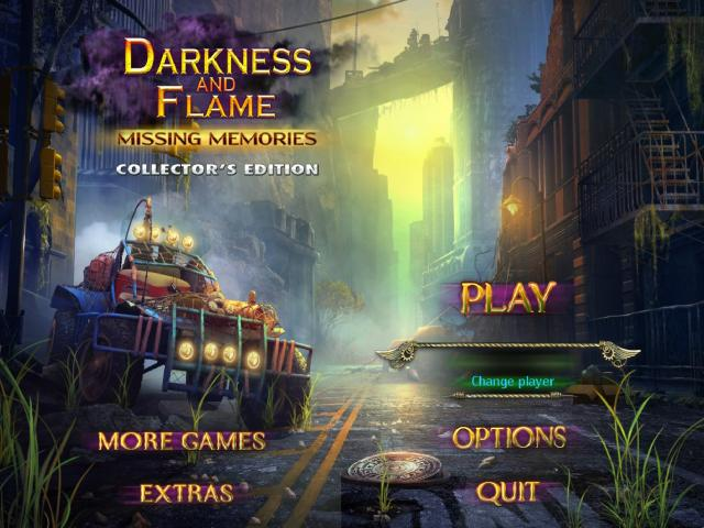 Darkness and Flame: Missing Memories - title cover