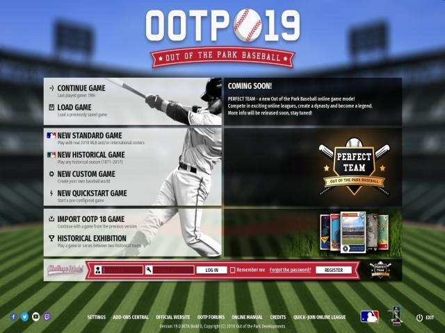 Out of the Park Baseball 19 - title cover
