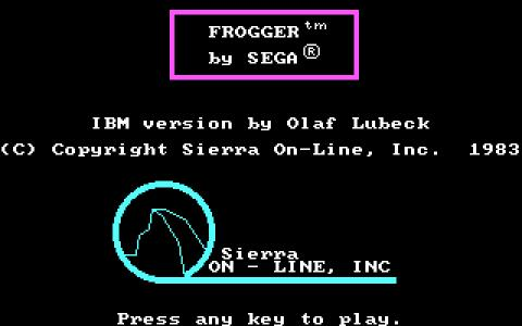 Frogger - title cover