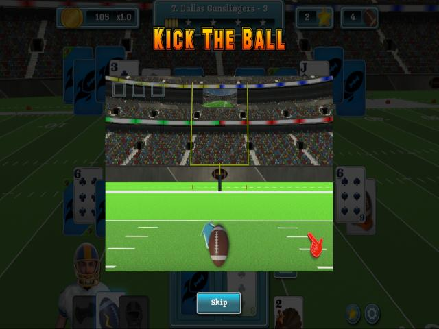 Touch Down Football Solitaire - title cover