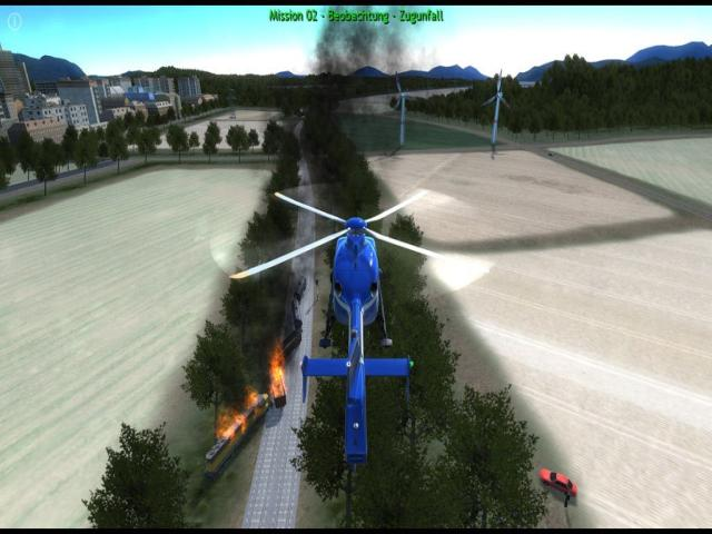 police helicopter simulator - title cover