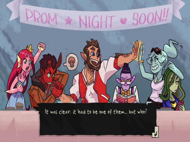monster prom - game cover