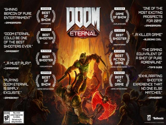 doom eternal deluxe - game cover