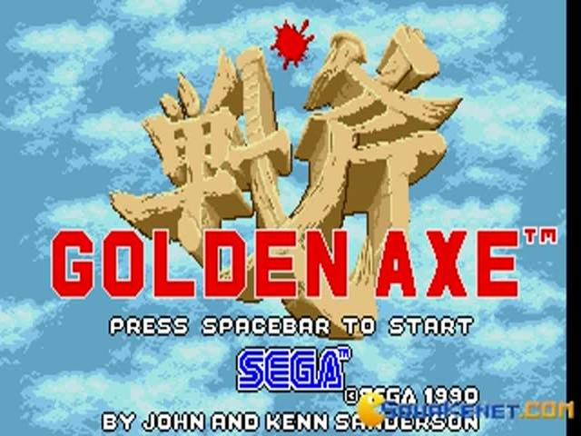 Golden Axe - title cover