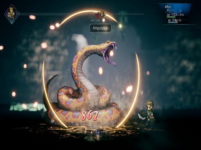 octopath traveler - game cover