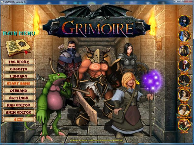 grimoire : heralds of the winged exemplar - title cover