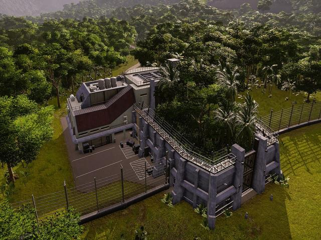 jurassic world evolution: return to jurassic park - game cover