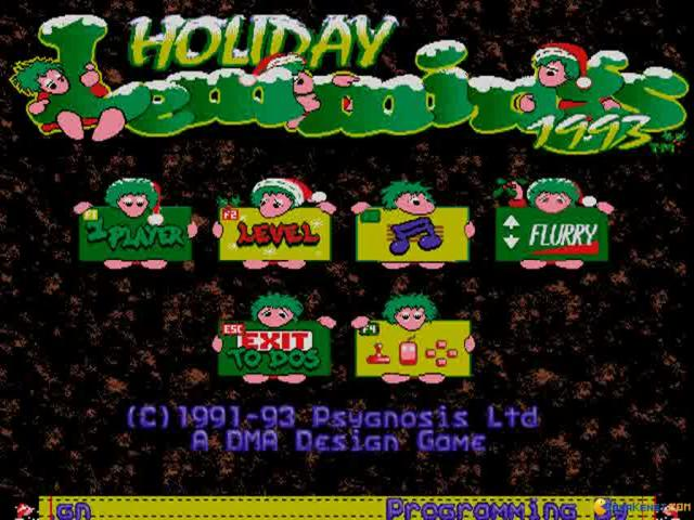 Holiday Lemmings - title cover