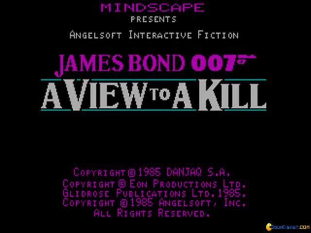 007 A View To A Kill - game cover