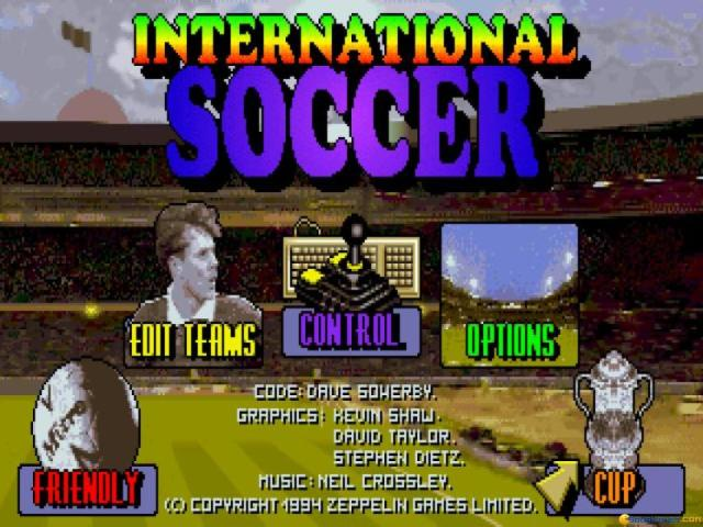 International Soccer - title cover