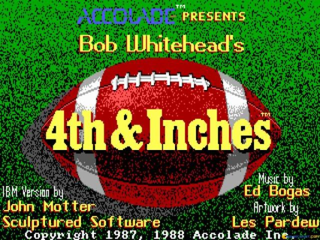 4th and Inches - game cover