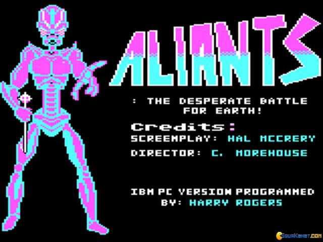 Aliants: The Desperate Battle for Earth - title cover