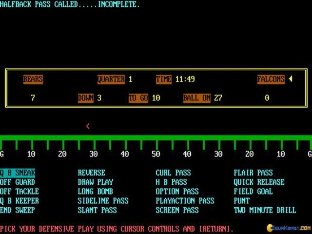 Armchair Quarterback (1985) - PC Game