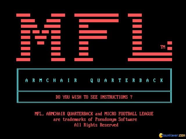 Armchair Quarterback - game cover
