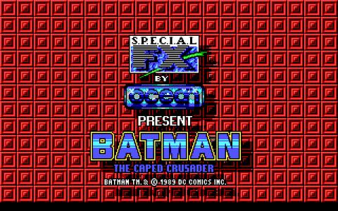 Batman: the Caped Crusader - game cover