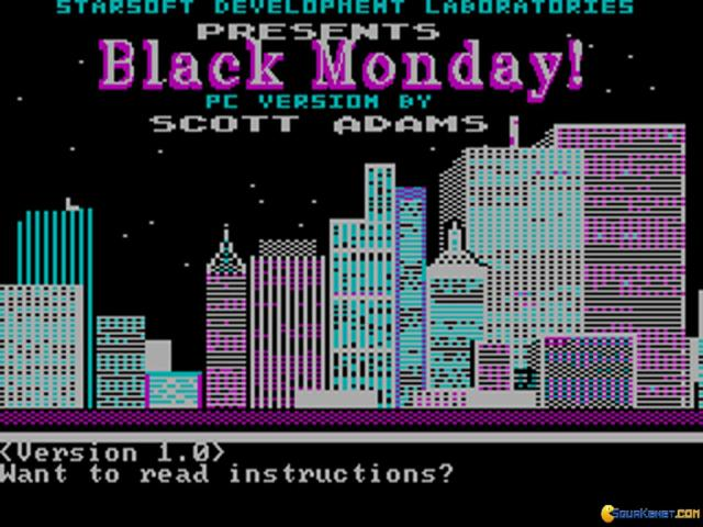 Black Monday - game cover