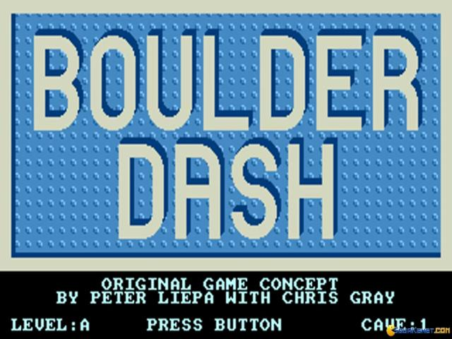 Boulder Dash (Remake) - title cover