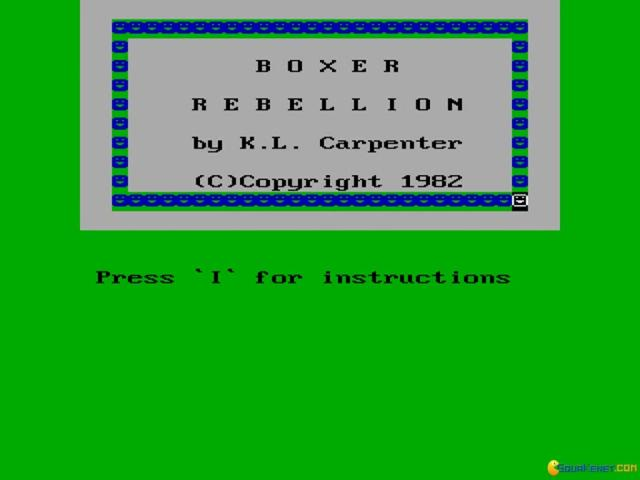 Boxer Rebellion - title cover