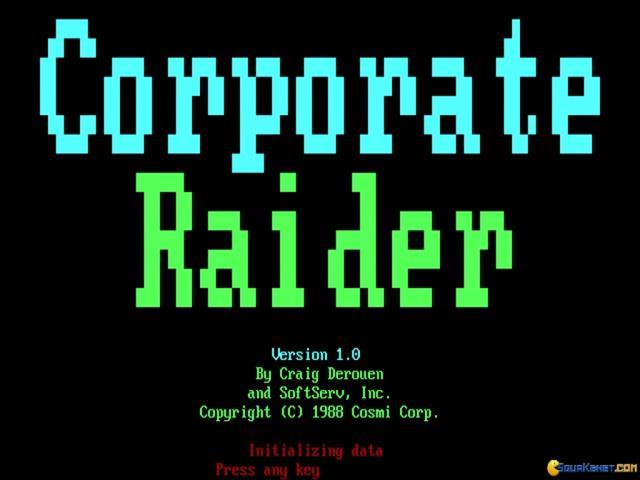 Corporate Raider - title cover