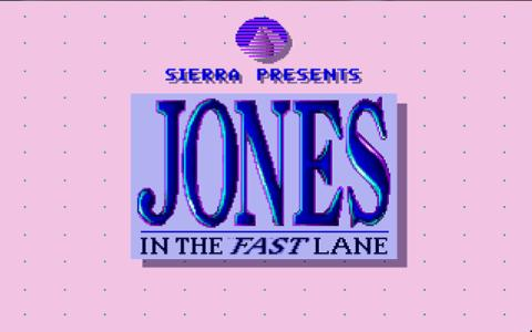 Jones in the Fast Lane - game cover