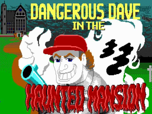 Dangerous Dave 2 - The Haunted Mansion - title cover