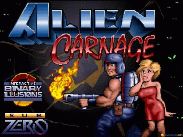 Alien Carnage - title cover