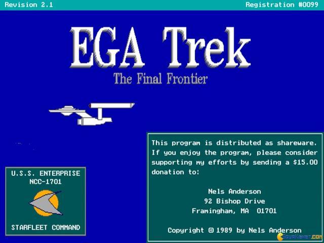 Ega Trek - game cover