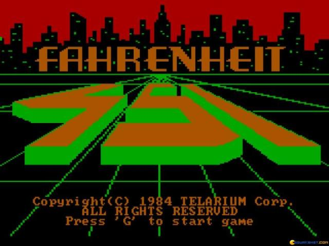 Fahrenheit 451 - game cover