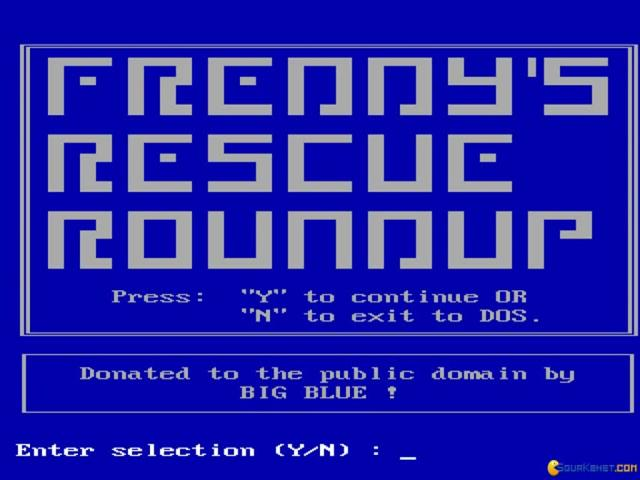 Freddy's Rescue Roundup - title cover