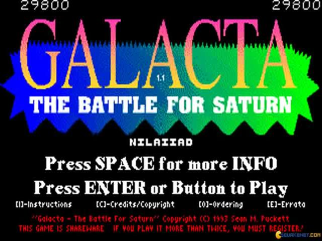 Galacta - The Battle for Saturn - title cover