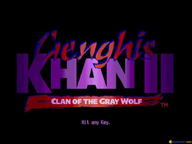 Genghis Khan 2 - Clan of the Grey Wolf - title cover