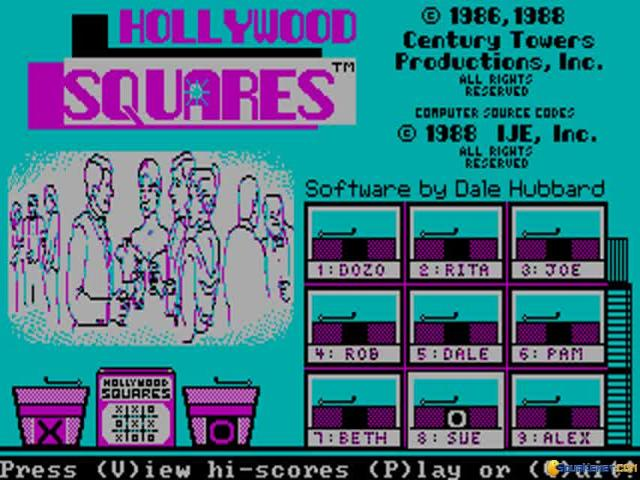Hollywood Squares - game cover