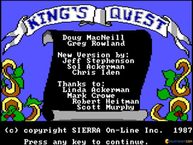 King's Quest - game cover