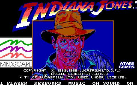 Indiana Jones and the Temple of Doom - game cover