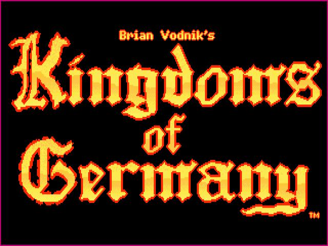Kingdoms of Germany - title cover