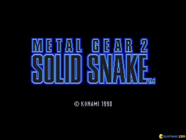 Metal Gear 2 - Solid Snake - title cover