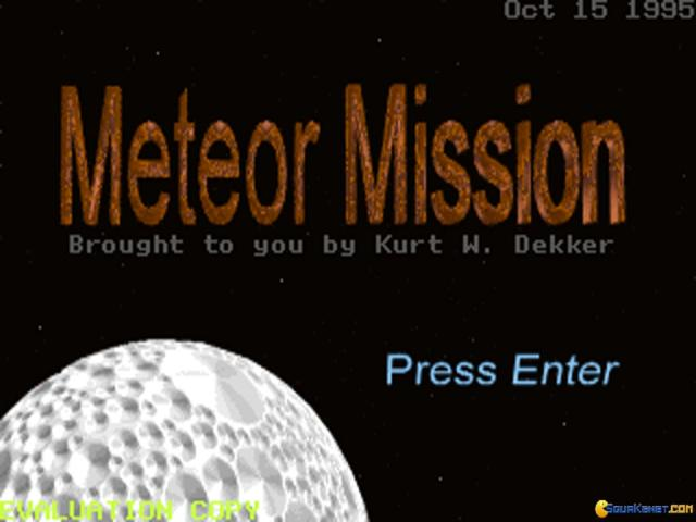Meteor Mission - title cover