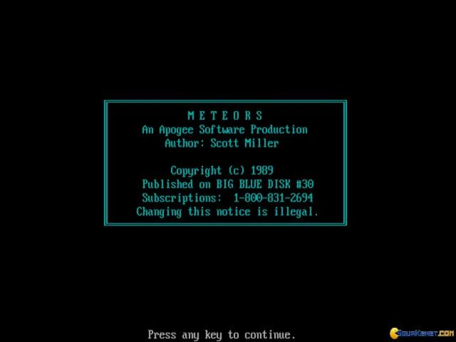 Meteors - title cover