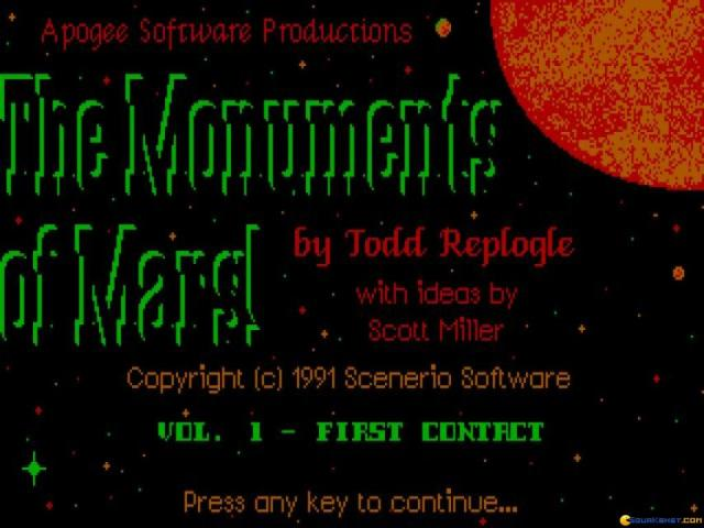 Monuments of Mars - title cover