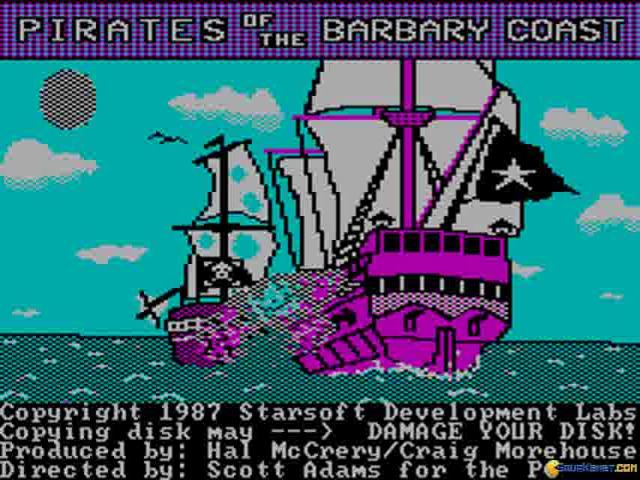 Pirates of the Barbary Coast - title cover