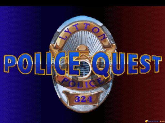 Police Quest 1 - VGA remake - title cover