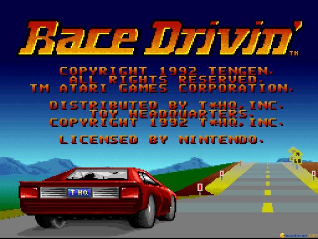 Race Drivin' - title cover