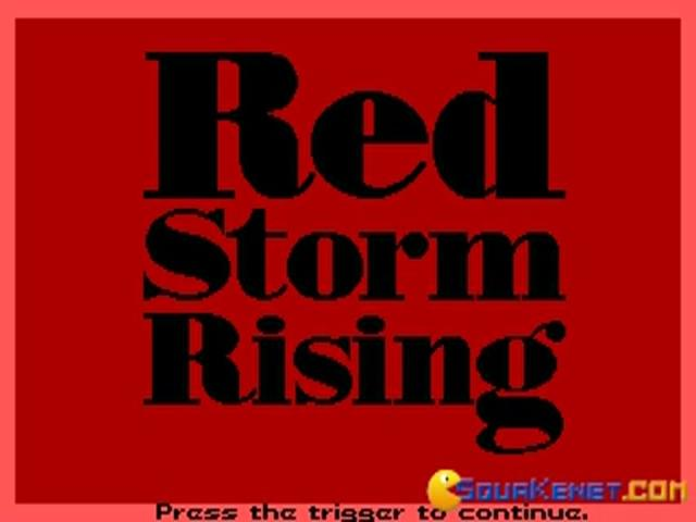 Red Storm Rising - title cover
