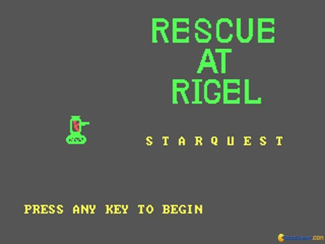 Rescue at Rigel - title cover