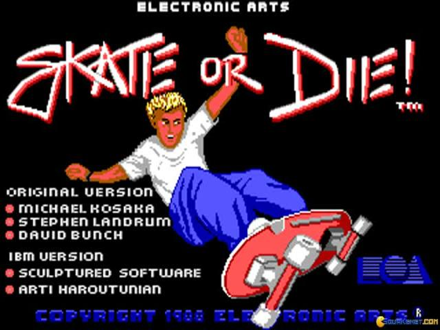 Skate or Die - title cover
