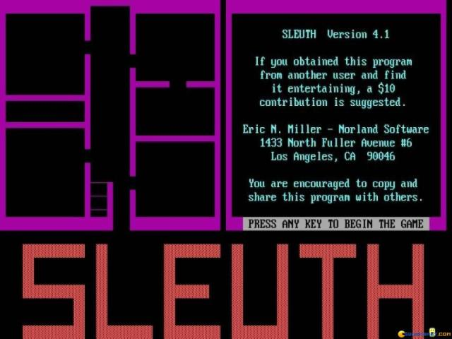 Sleuth - game cover