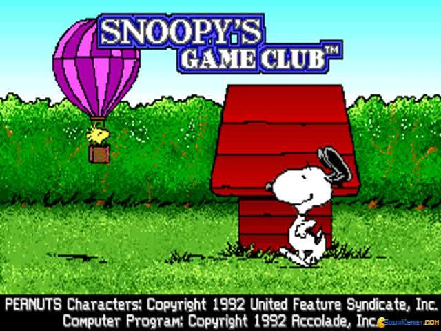 Snoopy Game Club - title cover