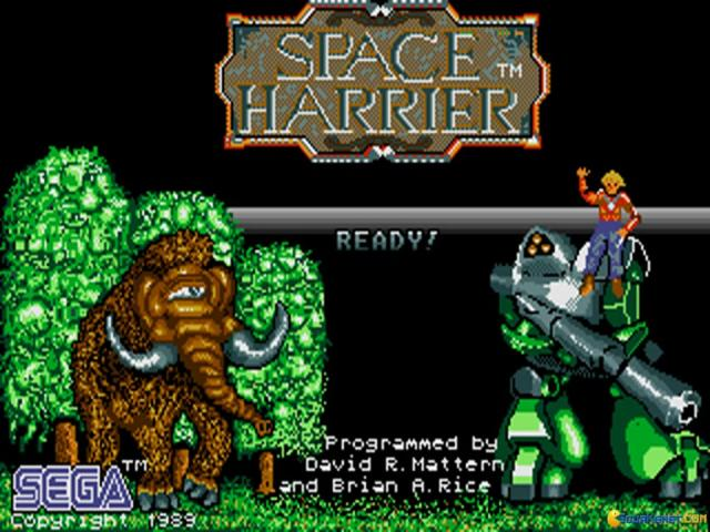 Space Harrier - title cover